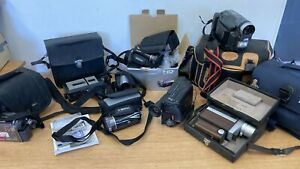 Job Lot Of Vintage & Modern Video Cameras- Untested **Spares & Repairs** (D2)