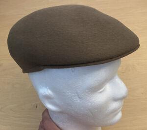 The Celebrated London Warwick Cap Hat Brown Wool Flat Cap Peaky Blinders 7 5/8