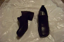 womens aerosoles what's what blue leather slip on heel loafers shoes size 7 1/2