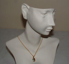 Nwot Fancy Blue Topaz Pendant Necklace With Gold Plated Chain