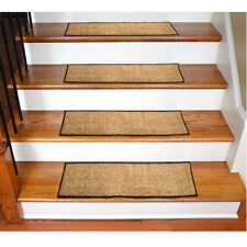 Non Slip Stair Rugs Carpet Stair Treads Pack Of 7 (Brown)