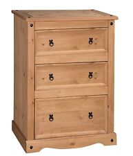 Corona Chest of Drawers 3 Drawer Wide Solid Mexican Pine by Mercers Furniture®