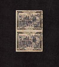 2X France Postage Stamp 1950 Paris Cityscapes 1000 Fr 1000 F Airmail Scott #C24