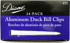"DIANE 3.5"" ALUMINUM DUCK BILL CLIPS 24-PACK SILVER (#20)"