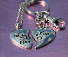 His & Hers Key To My Heart Couples Necklace key Ring Xmas Gift For Her Wife Him