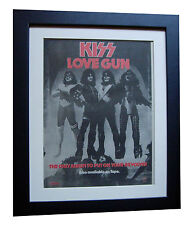 KISS+Love Gun+POSTER+AD+RARE+ORIGINAL 1977+QUALITY FRAMED+EXPRESS GLOBAL SHIP 2