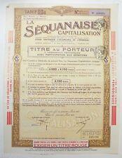 Titre au porteur ancien : SA la sequanaise ( 759 )