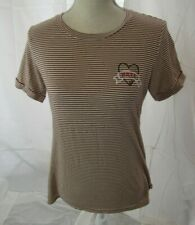 Lauren Moshi Striped Graphic Top Size S