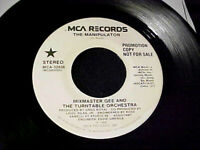 RARE ELECTRO RAP/HIP HOP 1986 DJ PROMO 45~MIXMASTER GEE The Manipulator MCA Hear