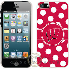 Apple iPhone 5S/SE Licensed Shield NCAA Wisconsin Badgers Polka Dots Case Shell