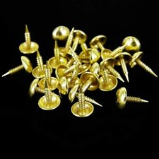 ANTIQUE BRASS PINS Furniture Upholstery Push Tack Memo Board Craft Dome Nail UK