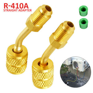 """R410a Adapter For Mini Split HVAC System 5/16"""" Female Quick Couplers x 1/4"""" Male"""