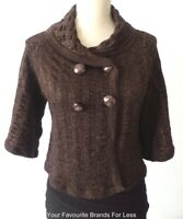 SABATINI Women's Cardigan rrp $345.00 Size Small Merino Wool Made In New Zealand