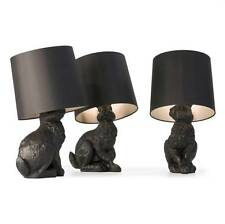 Modern Contemporary Mooi Hare Rabbit Table or Desk Lamp in Black