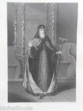 Original antiquaire Gravure; Les Grecs patriarche de Constantinople-c1850