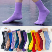 Girl Women Soft High Crew Sock Soft Comfortable Cotton Socks Ankle Breathable AU
