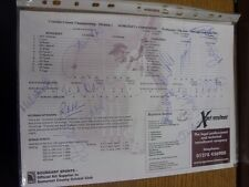 13/06/2001 Cricket: Autographed Scorecard, Somerset v Yorkshire - Hand Signed By