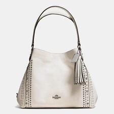 NWT Coach Bandana Rivets Edie 31 Shoulder Bag Chalk White F55544