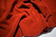 "Burnt Orange Double Sided Polartec Polar Fleece Fabric 62""W Jacket Hunting Soft"