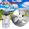 4/6/8/10 Inch Inline Duct Booster Fan Air Exhaust Ventilation Blower Grow Vent