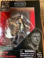 Star Wars Black Series 40th Anniversary Han Solo Titanium Series Die Cast