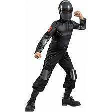 New G.I. Joe Snake Eyes Child Costume Large 10-12