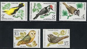 Beautiful Birds on 1979 MNH Stamps from Russia .....................C-625