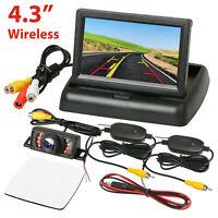 "Wireless Car Backup Camera Rear View System Night Vision + 4.3"" TFT LCD Monitor"