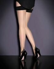 AGENT PROVOCATEUR SEEM & HEEL BLACK STOCKINGS SMALL LINGERIE