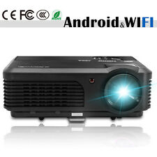 Android WiFi LED Home Cinema Theater Projector Video Movie HDMI USB VGA Wireless