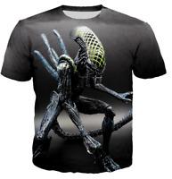 Funny Predator Vs Alien 3D print Casual T Shirt Hot Men Women Short Sleeve Top