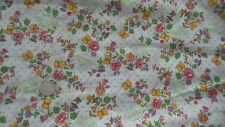 """Cotton Fabric BLUE POLKA DOTS,BUTTERFLIES,FLORAL ON WHITE 1 Yd/44"""""""