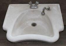 Antikes tiefes Friseur-Waschbecken mit Porzellan-Brauseschlauch (2.St.vorhanden)