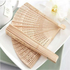 Bamboo Chinese Style Carved Folding Portable Hand Fan Summer Outdoor Cool Gift