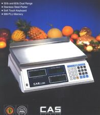 Cas S 2000 60lb Low Profile Price Computing Scale60lb Ntep Legal For Trade