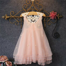 Sleeveless Toddler Girl Lace Tulle Tutu Dress Summer Princess Pageant Party Gown