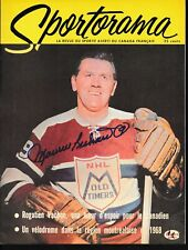 Maurice Richard Signed Sportorama Magazine Autograph Auto Psa/Dna Af92711