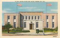 Panama City Florida~United States Post Office~Mail Dropbox~1940s Postcard