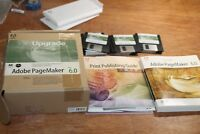 VTG Adobe PageMaker Version 6.0 Mac Floppy Discs Plus Manuals 0197-2471