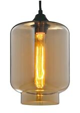 Retro Modern Champagne Industrial Pendant Light Ceiling Clear Glass Lamp Shade