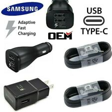 Original Samsung Galaxy Note 8 S8 S9 S10 Plus Fast Car Wall Charger Type-C Cable