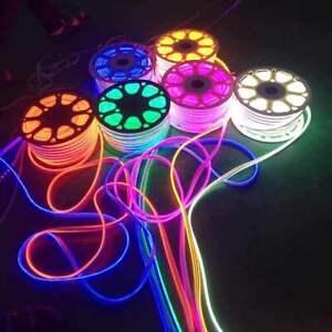 Neon Flex LED Strip RGB  Rope Light Waterproof 220V Flexible Outdoor Lighting