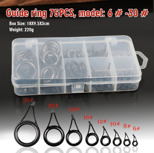 DIY mit Kasten Angelführer Ringe Angelgeräte 75 Stk. Angeln Ruten Ringe