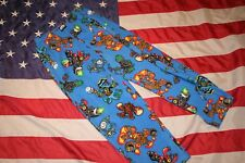 Boys Blue Fleece Skylanders Pajama Pants Size 6-8: sleep/play/lounge/camp  #6009