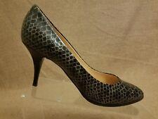 0ff23d686b Giuseppe Zanotti Women Black Patent Leather Croc Print Pumps High Heel Shoes  40