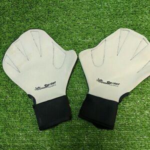 Sprint Aquatics Swimming Swim Gloves Hand Fins Sz Large