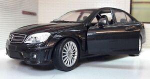 1:24 Echelle Mercedes C Classe C63 CL63 AMG V8 Détaillé Modèle Voiture Noir