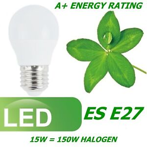 LED 7W 15W BC B22 ES E27 GLS E14 SES GU10 Light Bulbs Warm Cool White A+Lighting