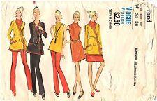 Vintage 1970s Vogue Sewing Pattern Womens DRESS COATDRESS PANTS 7863 Sz 14 UNCUT