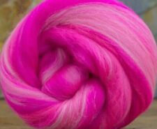 4 Ounces Merino Wool Combed Top/Roving - Blush 'n Bashful - FREE SHIPPING